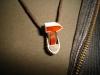 thumbs schaafje met carneool en ebbenhout colliers/hangers