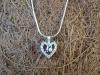 thumbs zilveren hanger spinel parel robijn colliers/hangers