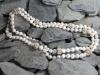 thumbs zoetwaterparel zilveren draadbollen colliers/hangers